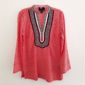 Cynthia Rowley x Anthropologie Embroidered Tunic S